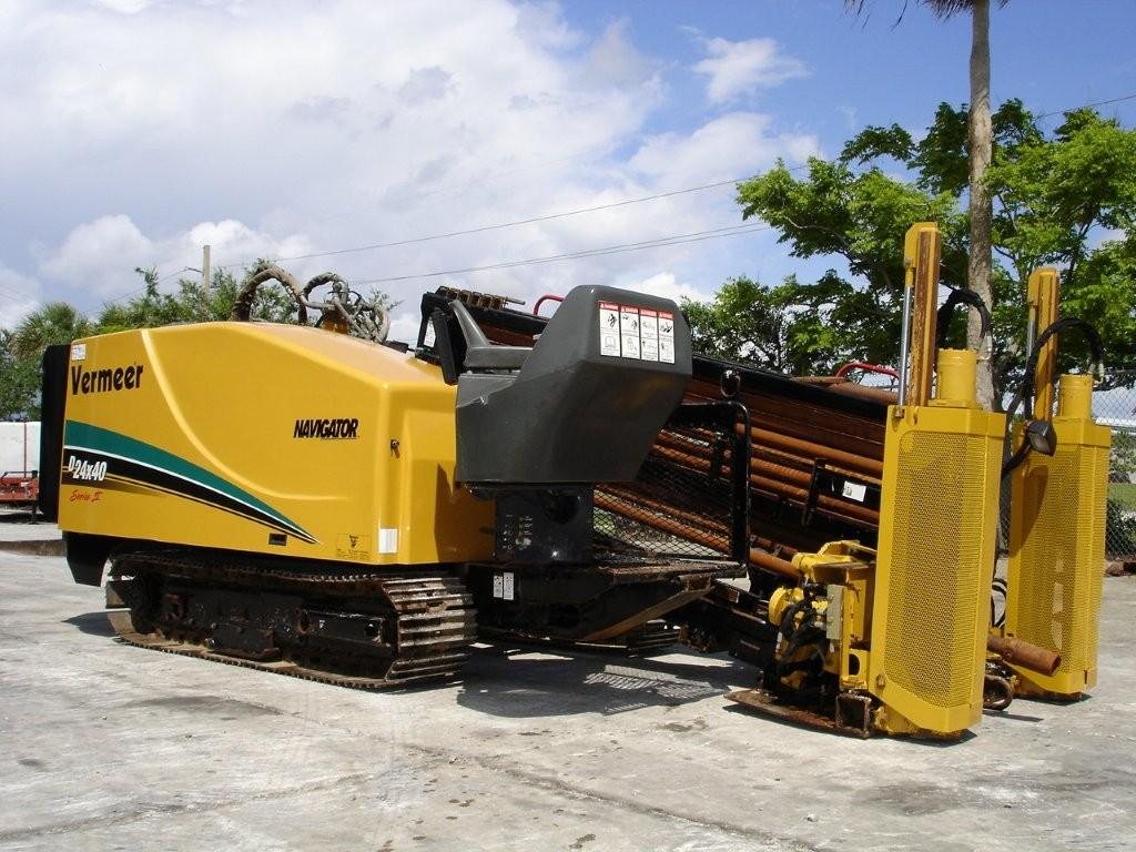 Garner Equipment offers this Vermeer 24X40 Series 2 directional boring machine with 500' of drill stem.