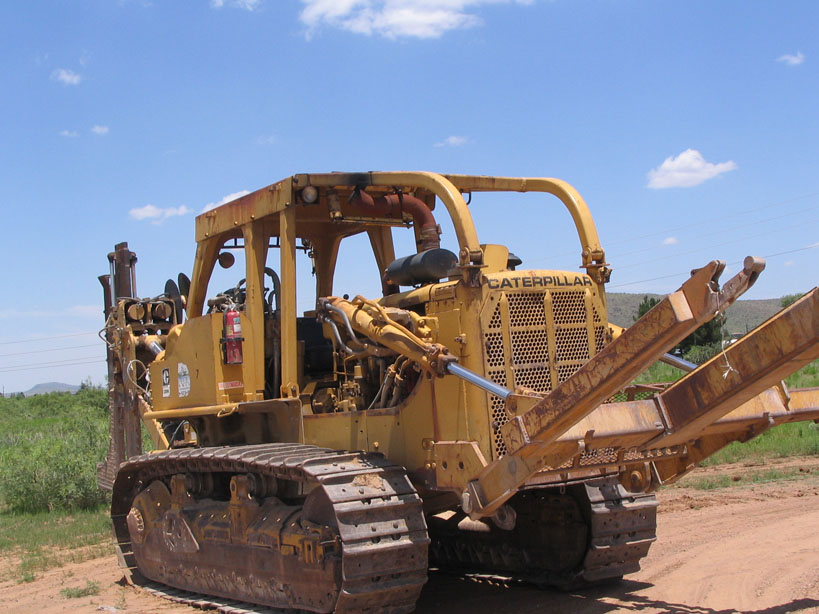 Cat D8K with Bron HS-II Cable Plow