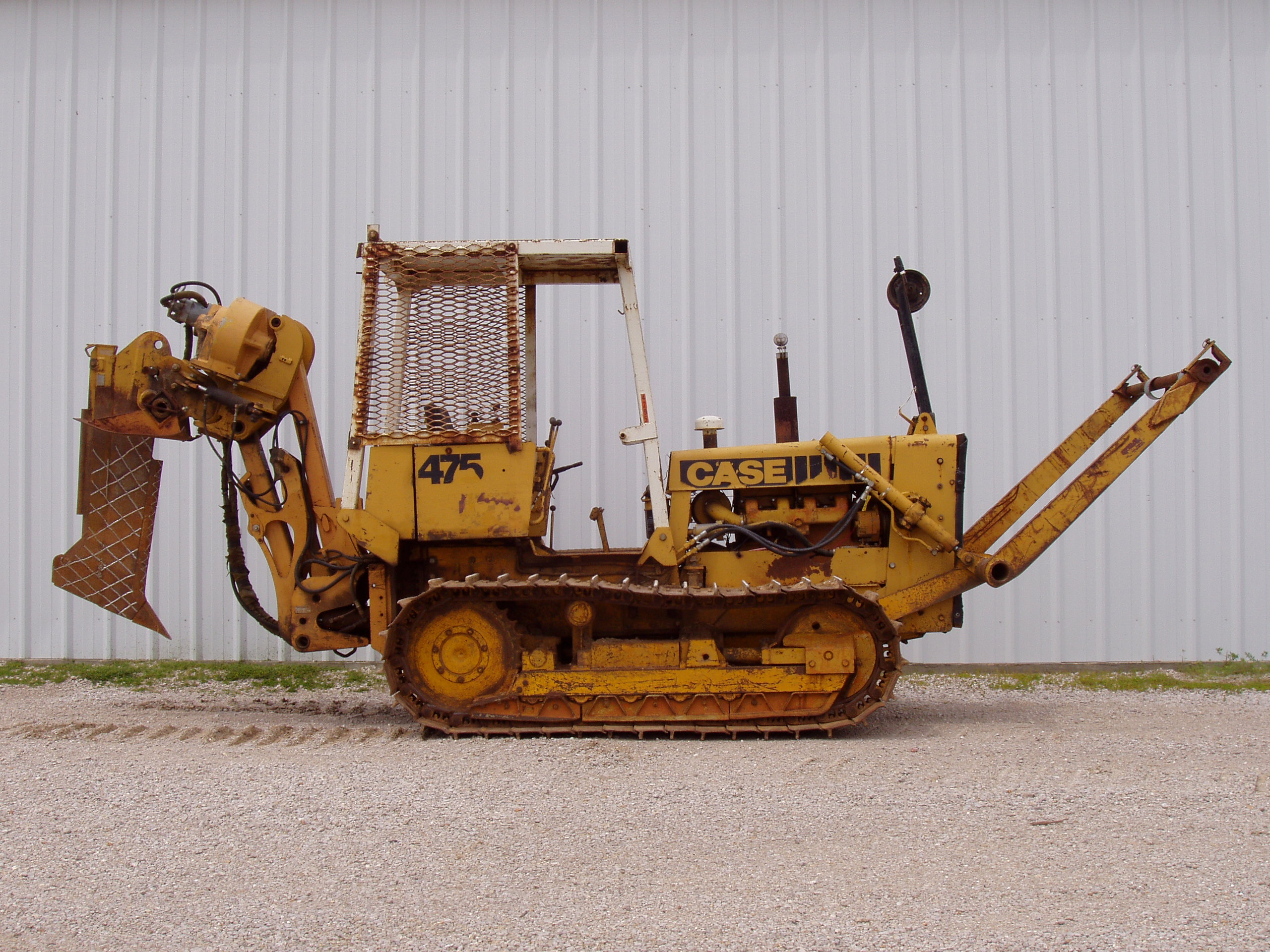 Case 475 cable plow with Case 860 plow attachment from Garner Equipment